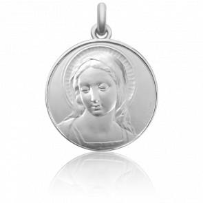 Médaille de Berceau Vierge Amabilis Argent