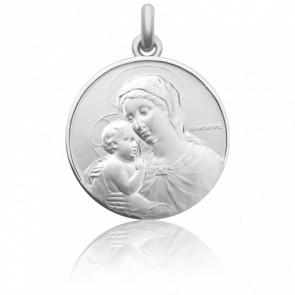 Médaille de Berceau Marie à l'Enfant Jésus Argent