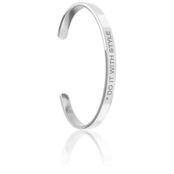 Bracelet Jonc Do It With Style Plaqué Argent