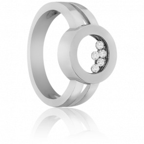 Bague Arena Diamants & Or Blanc 18K