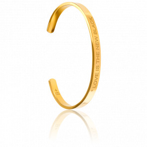 Bracelet Jonc Love is the New Black Plaqué Or Jaune