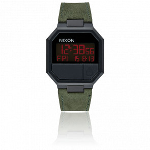 Re-Run Leather All Black/Green A944-032