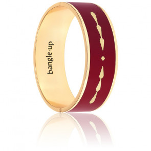 Bracelet Goa Rouge Grenat Plaqué Or Jaune