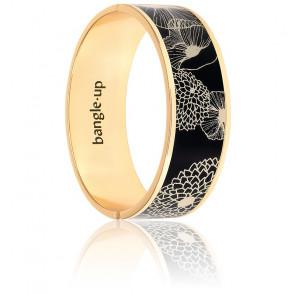 Bracelet Poppy Noir / Blanc Sable 20 mm