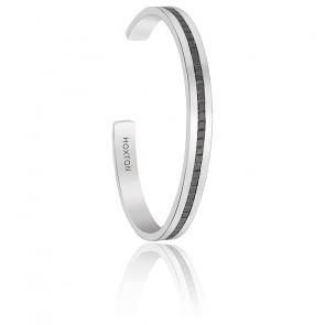 Bracelet Tekal Argent & Zircons Noirs
