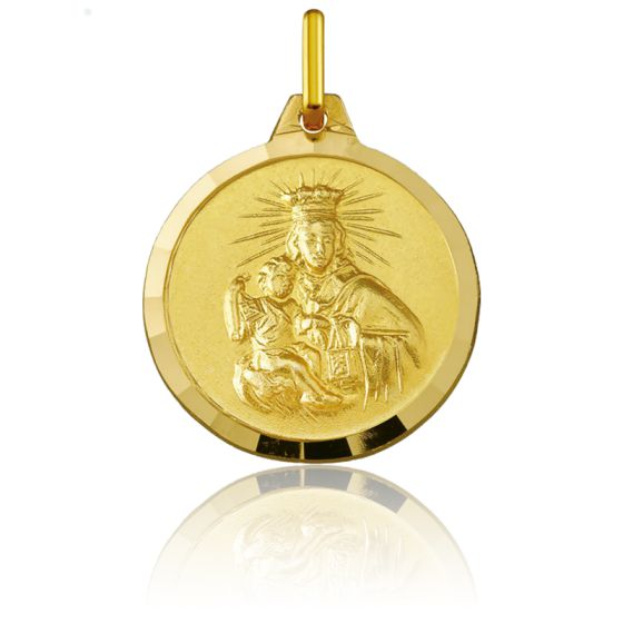 Médaille Scapulaire du Mont Carmel Or 18K