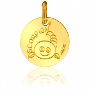 Médaille Zodiaque Scorpion Or Jaune 18K