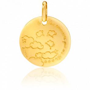 Médaille Tout Commence Par Un Rêve Or Jaune 18K