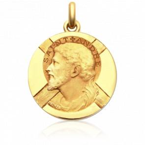 Médaille Saint André Or Jaune 18K