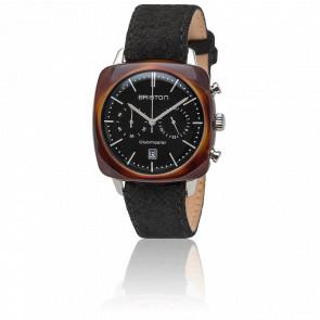 Clubmaster Vintage Acétate Chronographe Date Noir