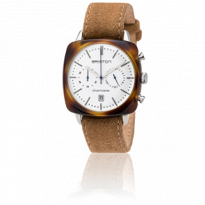 Clubmaster Vintage Acétate Chronographe Date Camel