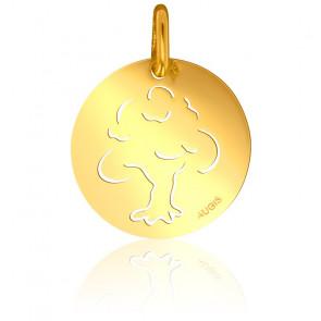 Médaille Arbre de Vie Ajourée Moderne Or Jaune 18K