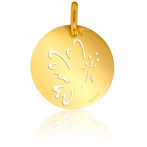 Médaille Colombe au Rameau d'Olivier Or Jaune 18K
