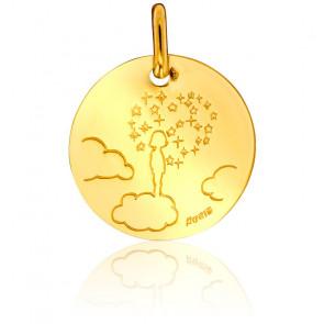 Médaille Petite Fille sur son Nuage Or Jaune 18K
