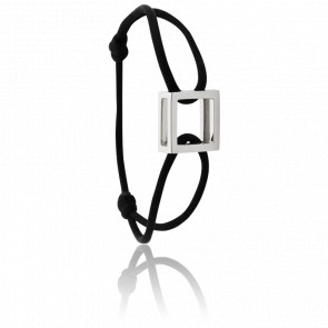 Bracelet Carré Argent Cordon