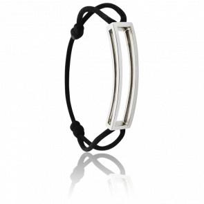 Bracelet Rectangle L Argent Cordon