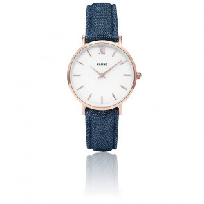 Minuit Rose Gold White / Blue Denim CL30029