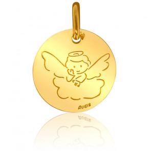Médaille Contemporaine Ange Sur Son Nuage Or Jaune 18K