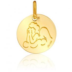 Médaille Contemporaine Ange de Profil Or Jaune 18K
