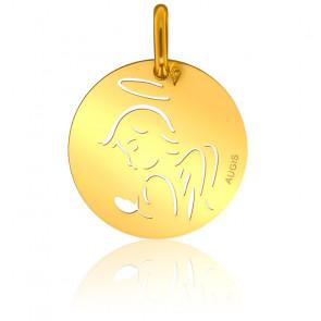 Médaille Contemporaine Ange Or Jaune 18K