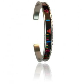 Bracelet STEEL Skull Rainbow