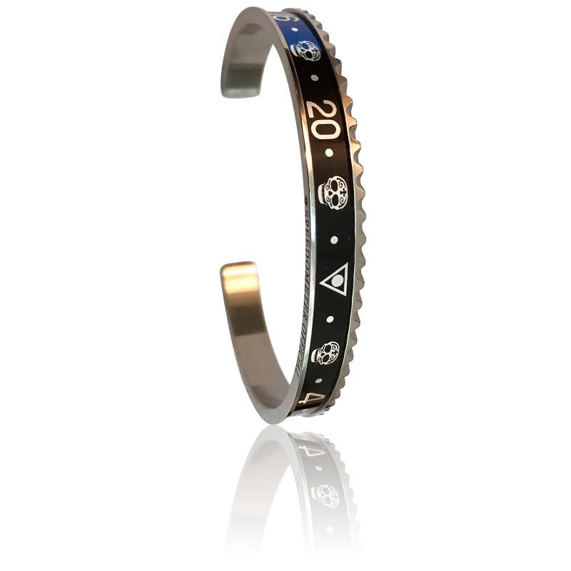 Bracelet STEEL Skull Blue & Black