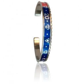 Bracelet STEEL Skull Red & Blue