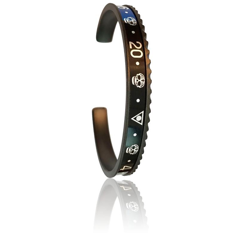 Bracelet BLACK Skull (Existe en 4 coloris)