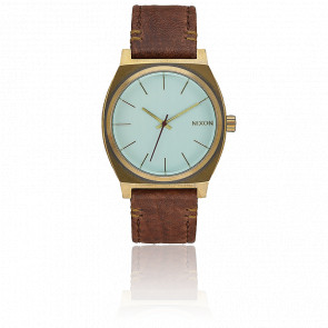 Time Teller Brass / Green Crystal / Brown A045-2223