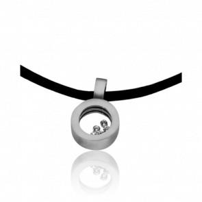 Collier Cordon Circus Diamants & Or Blanc 18K