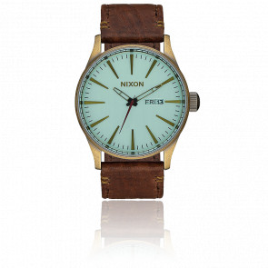 Sentry Leather Brass/Green Crystal/Brown A105-2223