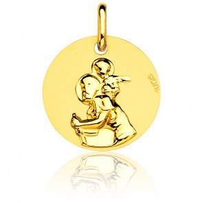 Médaille Saint Christophe  Ø 16 mm Or Jaune 18K