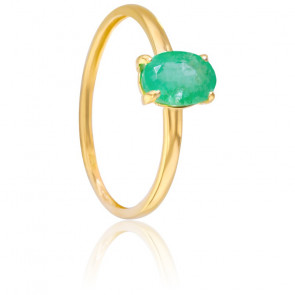Bague Malva Emeraude & Or Jaune 18K