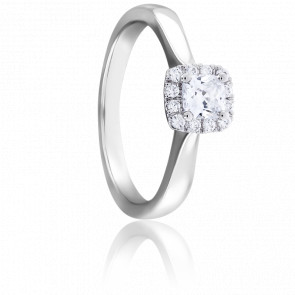 Bague Solitaire Diana 0,25 ct Or Blanc 18K