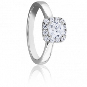 Bague Solitaire Diana 0,50 ct Or Blanc 9K