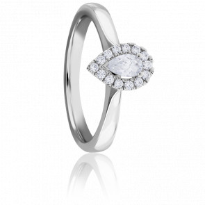 Bague Solitaire Diphylleia 0,25 ct Or Blanc 18K