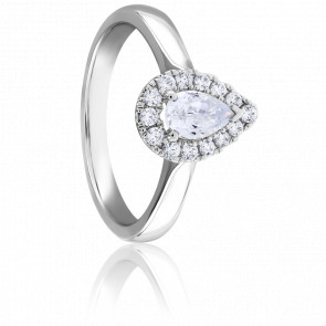Bague Solitaire Diphylleia 0,50 ct Or Blanc 9K