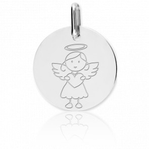 Médaille My Angel Fille Or Blanc