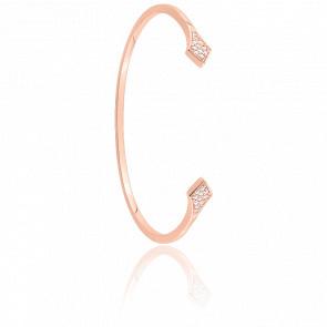Bracelet Rebel Plaqué Or Rose & Zircons