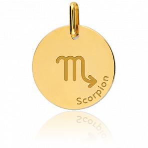 Médaille Zodiaque Scorpion Or Jaune