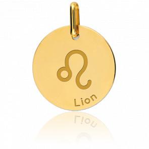 Médaille Zodiaque Lion Or Jaune