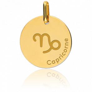 Médaille Zodiaque Capricorne Or Jaune