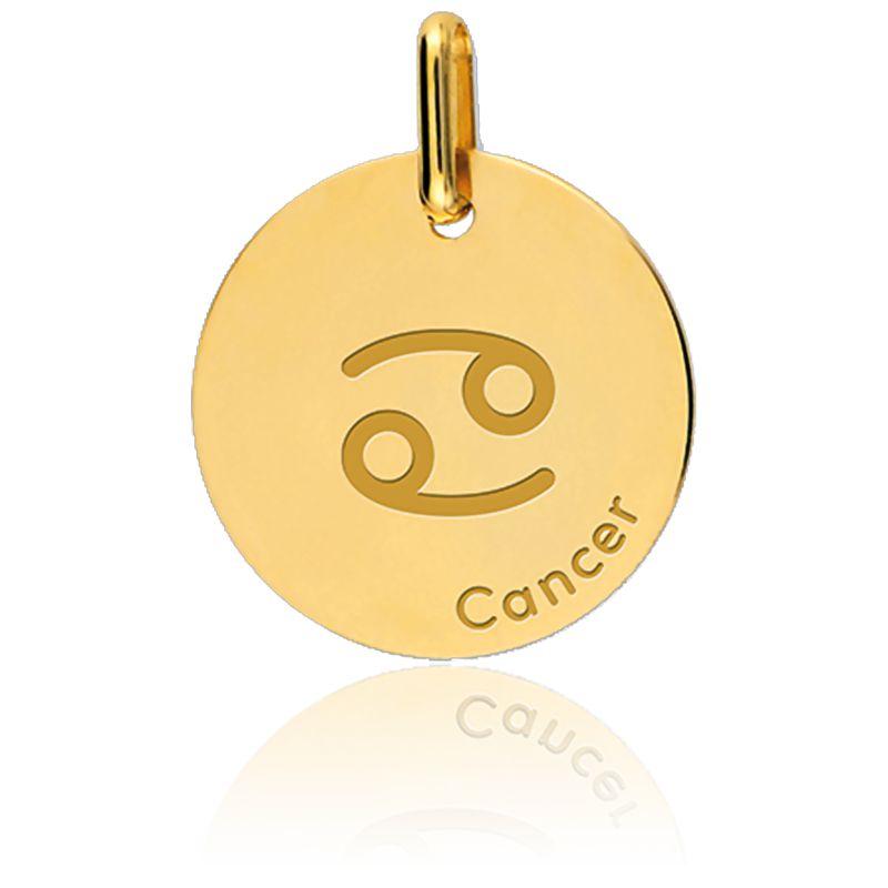 Médaille Zodiaque Cancer Or Jaune
