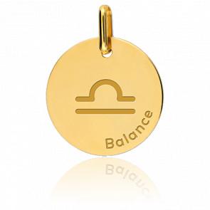 Médaille Zodiaque Balance Or Jaune