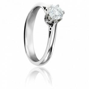 Bague Solitaire Valerien, Diamant GSI & Or Blanc 18K