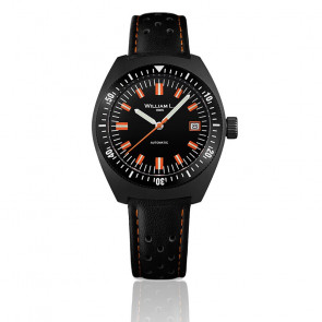 Auto Diver Black PVD Black Leather