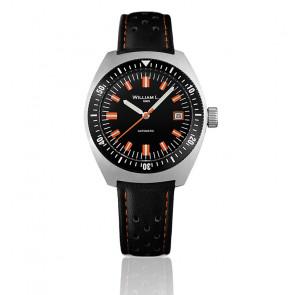 Auto Diver Black Dial Black Leather