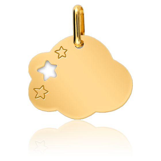 Médaille Nuage & Etoiles Or Jaune