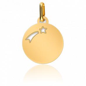Médaille Etoile Filante Or Jaune