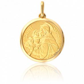 Médaille Saint Antoine Or Jaune